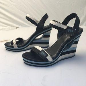 Coach Mylar Wedge Sandal - Size 7.5M